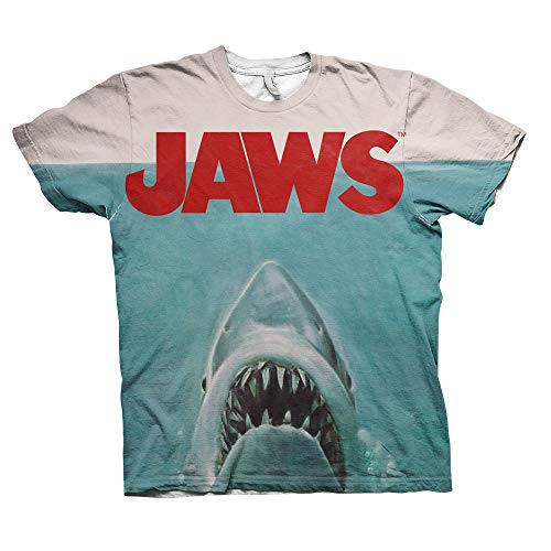 Officially Licensed JAWS Allover Printed T-Shirt - S to XXL