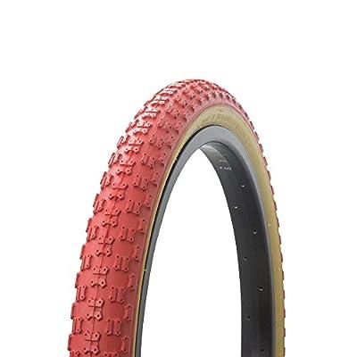 "Fenix Cycles Bicycle Tire Wanda 20"" x 2.125"" Comp3 Thread Gum Sidewall. Bike tire, (Red)"