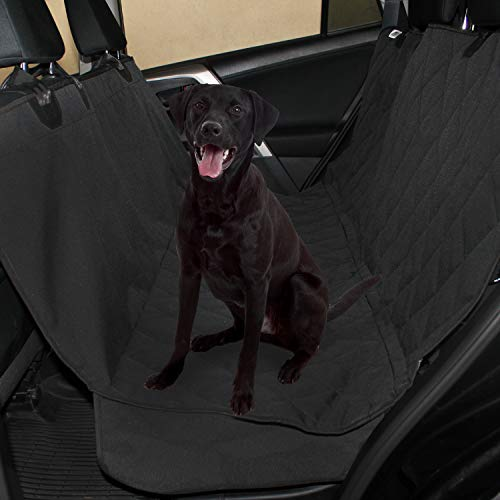 Plush Paws Products Waterproof Pet Seat Cover Non-Slip Hammock with Bonus Two Seat Belts and Two Dog...