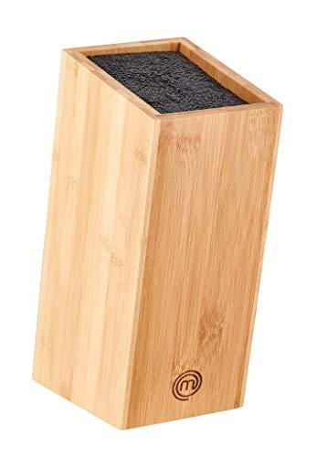 MasterChef MC 700695 classic Filament universel incliné en bambou – Bloc de couteaux, marron