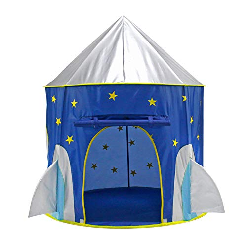 Gerald Madge Kids Tent, Polyester Space Capsule Indoor and Outdoor Castle Tent, Suitable for Children's Play Tent-105×105×130cm