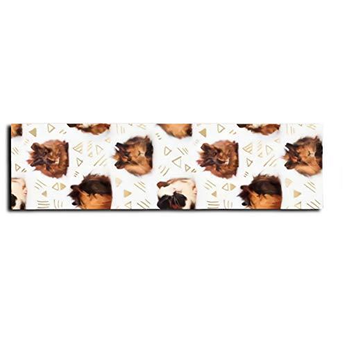 Cinta antideslizante para monopatín de conejillos de indias para monopatín, patinete, tabla larga, pedal de 22 x 83 cm