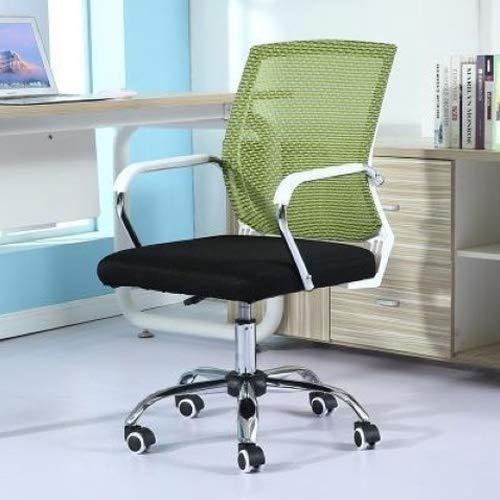Preisvergleich Produktbild Stationery-Teaching Supplies Büro-Zubehör,  bequem und langlebig,  einfacher Haushalts-Netz-Computerstuhl,  Konferenzstuhl,  weißer Rahmen,  Schiebe-Rollstuhl (schwarz) grün