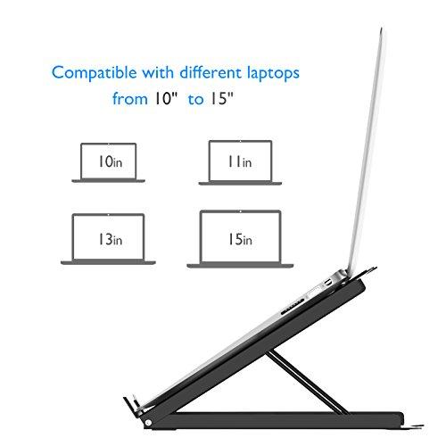 BONTEC Laptopständer Notebookständer Universelle, Höhenverstellung in Augenhöhe Ergonomischer Sitz für MacBook Computer, PC-Laptops und iPad