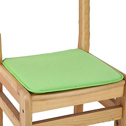 Love lamp 7 Couleurs Coussin Seat Coton Coussins Blend gastronomie Jardin Maison Cuisine Chaise de Bureau Tapis de siège Coussin Coccyx Coussin Solide Couleur (Color : Green, Taille : 40 * 40cm)