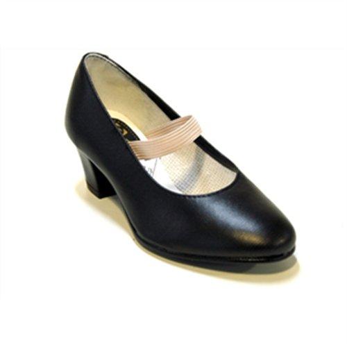 Zapatos Flamenca Flamenca Zapatillas de Deporte, Mujer, Negro, 32
