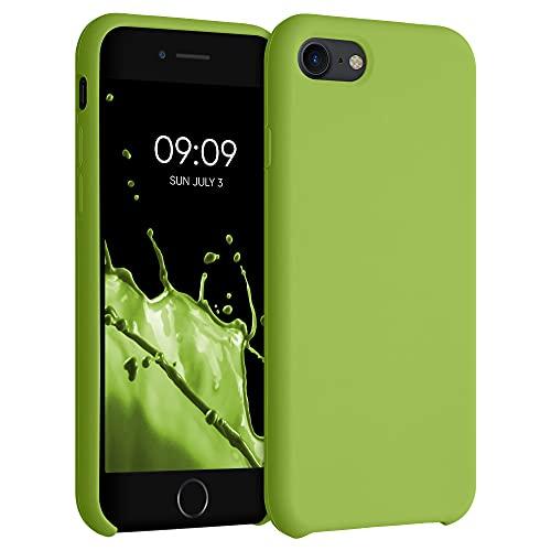 kwmobile Carcasa Compatible con Apple iPhone 7/8 / SE (2020) - Funda de Silicona para móvil - Cover Trasero en Verde Pimiento