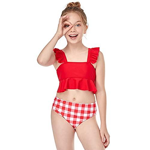 Vobony Mädchen Zweiteiler Bikini Mädchen Zweiteiliger Bademode UV-Schutz Badeanzug Badebekleidung Schwimmanzug Tankini