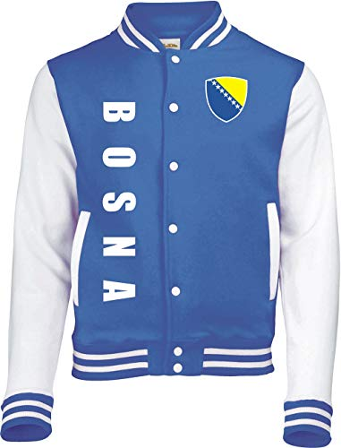 Aprom-Sports Bosnien College Jacke Sport Fussball Freizeit Sweatjacke - Royal Spa (XL)