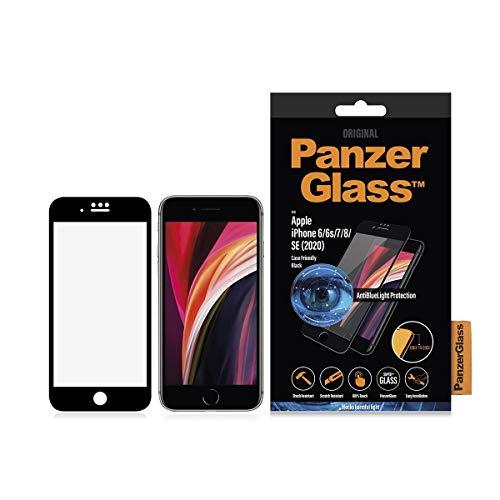 PanzerGlass - PanzerGlass Apple iPhone 6/6S/7/8/SE 2020 compatible con las fundas antiluz azul, negro