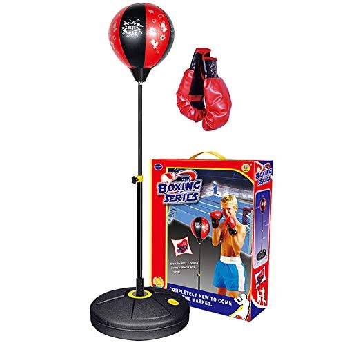 U/R Punchingball für Kinder inklusive Boxhandschuhe, höhenverstellbarer Kinder-Boxsack mit Ständer, Boxsack-Set Spielzeug für Jungen und Mädchen