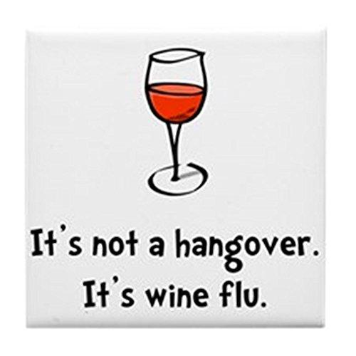 CafePress – Vin la grippe – pour carrelage Dessous de Verre, dessous de boisson, petite Dessous de Plat