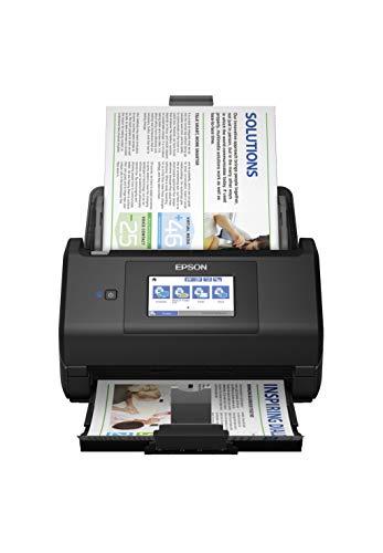 Epson WorkForce ES-580W Scanner, Dokumentenscanner (scannt ohne PC, 35 Seiten bzw. 70 Bildern pro Minute, bis DIN A4, beidseitiger Scan in einem Durchgang, automatische Ausrichtung)