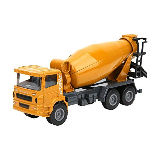 1:60 Alloy Concrete Pump Mixer Truck Model Toy, Engineering Construction Equipment Model Gift for Kids Over 3 Years Old