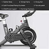 Spinning Bicicleta Ciclo Indoor Bike la Bicicleta estática Full-Wrap Segura Volantes silenciosa Correa de transmisión con Sistema de Resistencia for el hogar Cardio Entrenamiento del Entrenamiento de