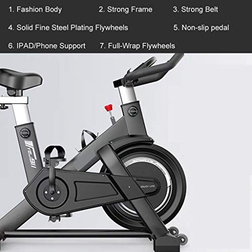 For Sale! YGO Indoor Cycle Bike Exercise Bike Full-Wrap Safe Flywheels Silent Belt Drive with Resist...
