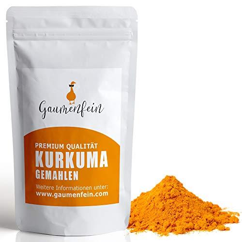 GAUMENFEIN® Kurkuma Pulver Indisch - Kurkuma-Wurzel gemahlen - 100% natürliche Premium Qualität - 250g