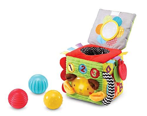 Vtech Baby - Kiekeboe Knuffel Kubus - Vele zijden vol plezier - Educatief Babyspeelgoed - Leeftijd: 3 - 24 Maanden