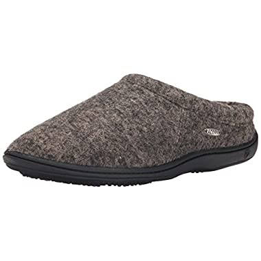 Acorn Men's Digby Gore Mule Slipper,Greige Heather,Large/10.5-11.5 D(M) US