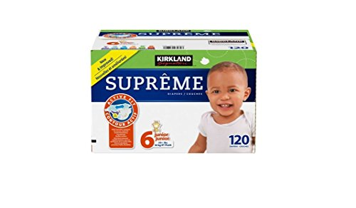 Kirkland Signature Supreme Diapers Size 6 Quantity 120