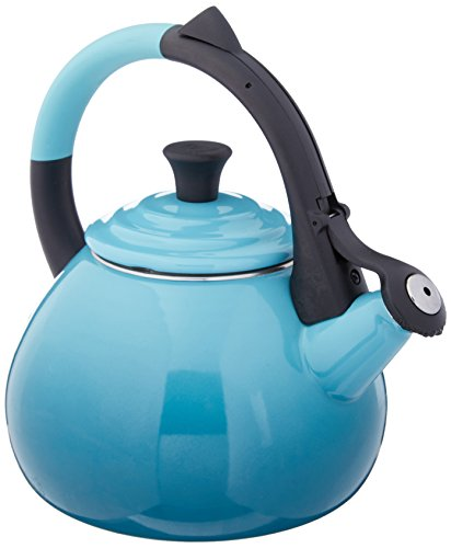Le Creuset Enamel On Steel Oolong Tea Kettle, 1.6 qt., Caribbean