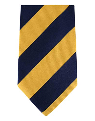David Van Hagen Jaune/Marine épais rayé cravate de