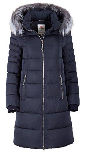 Grimada 7M56M Dames winterjas jas in dons-look Tarore met echte bontcapuchon