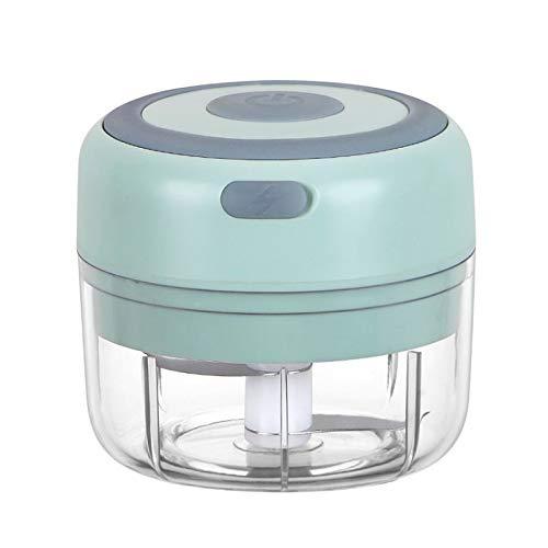 Roeam Elektrisch Zerkleinerer Küche, Mini Knoblauchpresse100ML USB Wiederaufladbar, Zwiebelschneider, Elektrischer Mixer für Knoblauch Chili Gemüse Obst