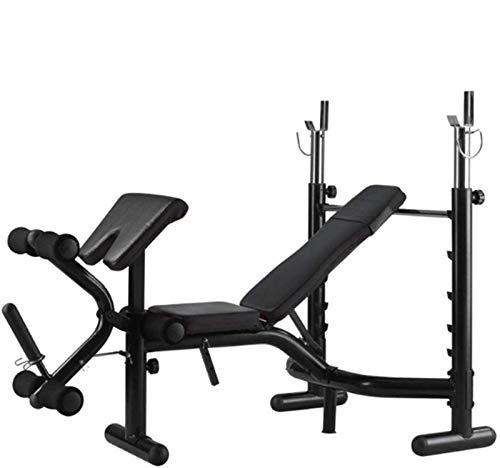 Cnley Banco plegable de pesas fengicon Banco de prensa de banco de sentadillas, equipo de fitness, entrenamiento de fuerza muscular, ejercicio plano, multiusos, ajustable, masculino femenino