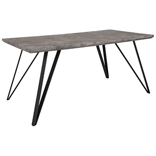 Flash Furniture Corinth 31.5' x 63' Rectangular Dining Table in Faux Concrete Finish