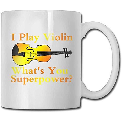 Ik spelen viool Wat ben je? Supermacht koffiemok 11 ounces vrouwen idee keramiek geschenken theekop