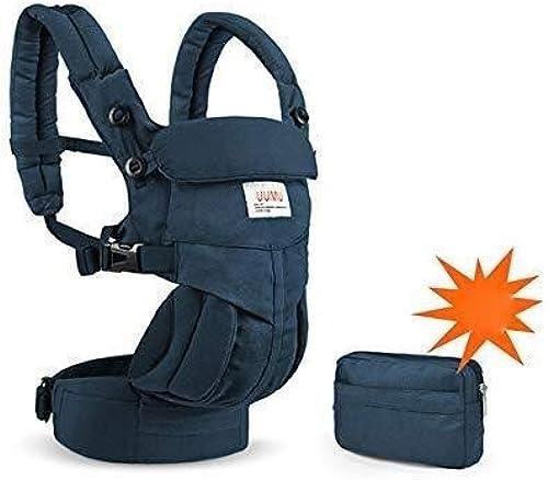 WDOPZMS Porte-bébé for Tout-Petit - Porte-bébé MultiCouleure avec Porte-bébé Multifonction Avant Multifonction (Couleur   Dark bleu)