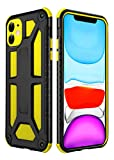 iphone11Case Shockproof Compatible with Apple iPhone 11 Phone Cover i Phone iPhone11 1phone lphone i0hone IP iph ip11 Dual Layer Bumper Cases Protective Skins New 6.1 inch (Yellow)