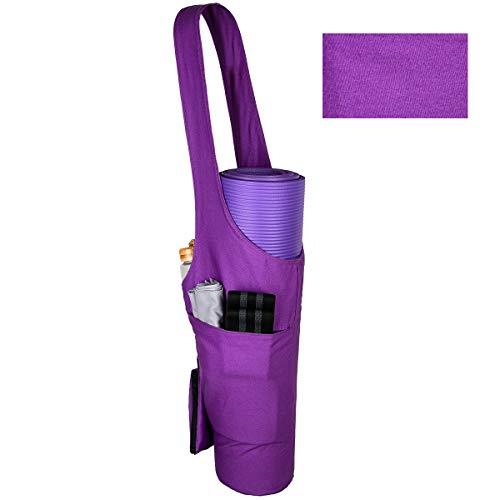 PS01 Yogamatten-Tasche, Tragetasche, leichte Yogamatte, Tragetasche mit großer Tasche und Reißverschlusstasche und abnehmbarer kleiner Tasche, passend für die meisten Matten, g, Einheitsgröße