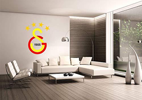 Saphir Design Wandtattoo Galatasaray (rot - gelb - schwarz - Gold - 60x100 cm)