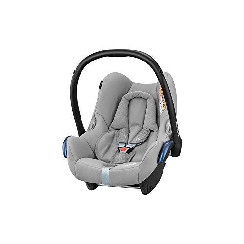 Maxi-Cosi CabrioFix Babyschale, Baby-Autositze Gruppe 0+ (0-13 kg), nutzbar bis ca. 12 Monate, passend für FamilyFix-Isofix Basisstation, Nomad Grey (grau)