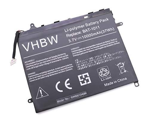 vhbw Batterie 9700mAh (3,7 V) pour Tablette Acer Iconia Tab A510, A511, A700, A701. Remplace: BAT-1011, BAT-1011(1ICP5/80/120-2).