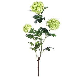 22.5″ Silk Snowball Flower Spray -Green (pack of 12)
