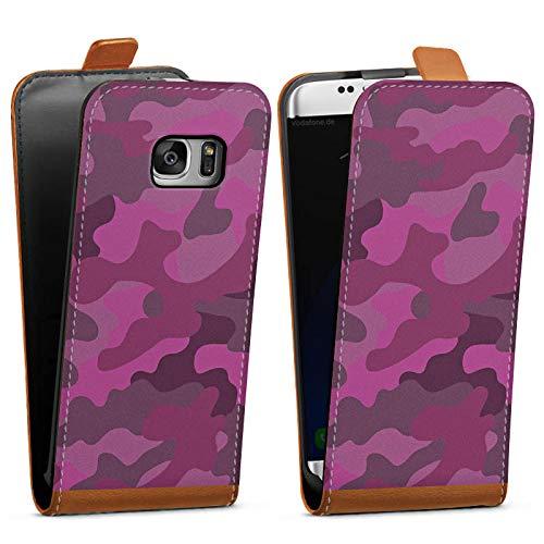 DeinDesign Tasche kompatibel mit Samsung Galaxy S7 Flip Case Hülle Camouflage Bundeswehr Muster