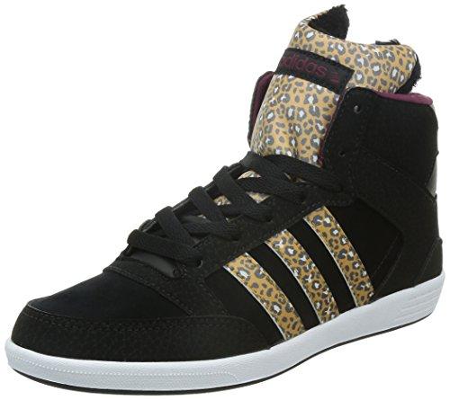 adidas Hoops CST Animal W - Zapatillas para mujer, Negro / Amarillo / Blanco / Rojo, 39 1/3