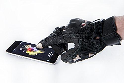 Motorradhandschuhe Pursuit Moto L schwarz kurz Sommer Touchscreen für Herren und Damen Motocross Handschuhe Fahrrad MTB Roller Sport Mofa - 8