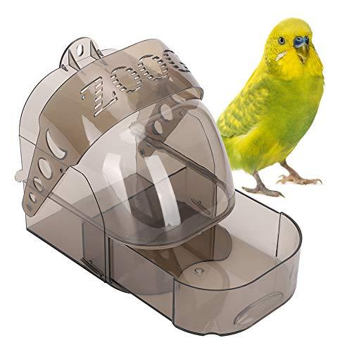 1994 Contenitore di Alimentazione, Vasca da Bagno Multifunzione per Uccelli in plastica Nera addensata, per Uccellini canarino