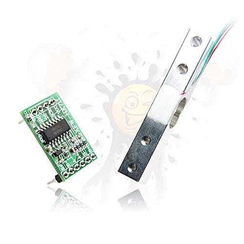 Wiege Scale Druck Pressure Gewicht Weight Sensor Set 1kg - 200kg + HX711 ADC (20 KG Set 1 x Sensor + 1 x HX711)