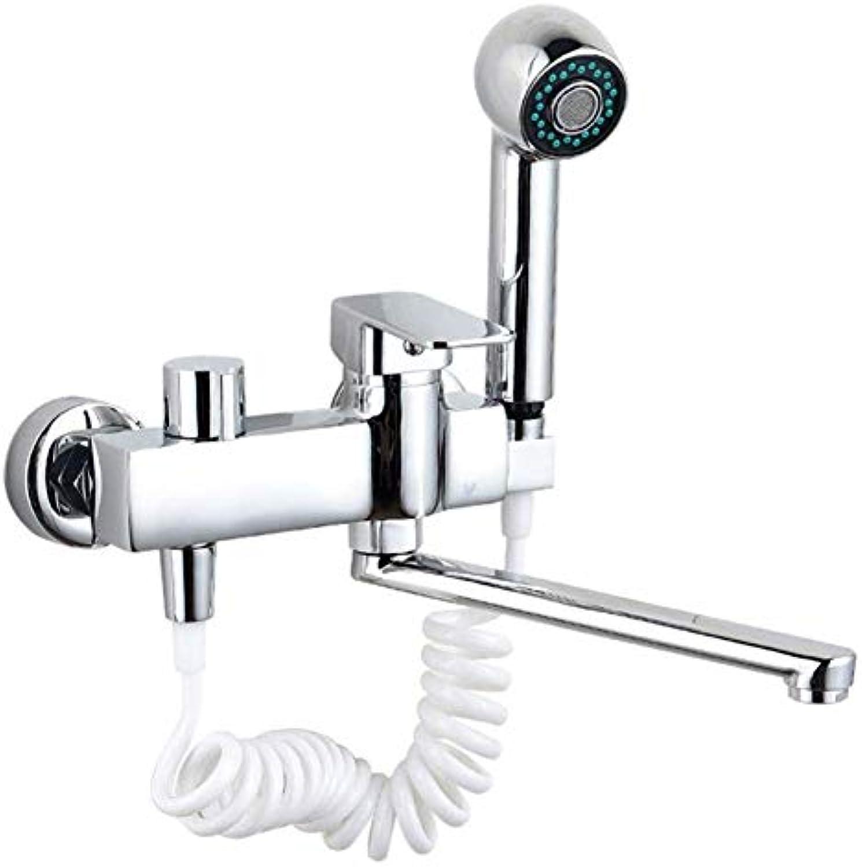 Waschtischarmaturen Spülbecken Wasserhhne Kupfer überzug Wasserhahn Home Modern 360 ° Warm Und Kalt Multifunktionsbad Wasserhahn (Farbe   Silber)