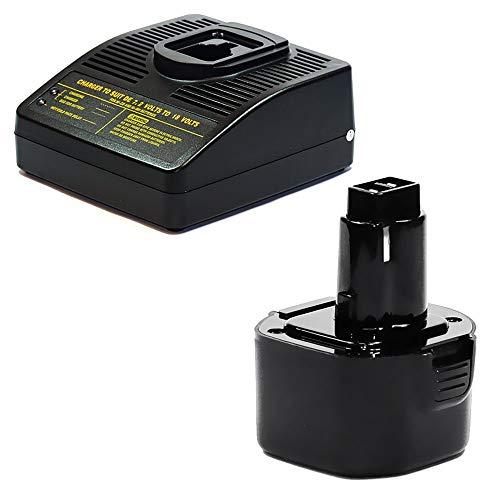 CELLONIC® Premium Batterij 9.6V, 3Ah, NiMH+ Oplader compatibel met Black & Decker CD96 / CD96CA / KC96 / KC96C Vervangende Accu A9242, A9251, A9265, A9272, PS120 Battery