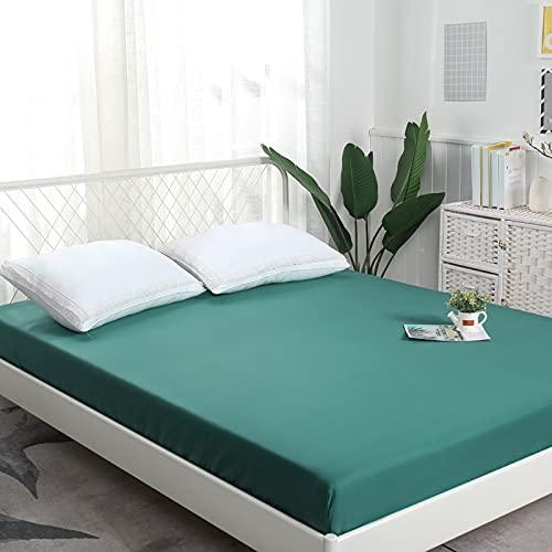 BOLO 100% algodón ropa de cama elástica colchón protector hogar hotel cama doble tamaño king cama cubierta, sin plancha, 180x200+30cm