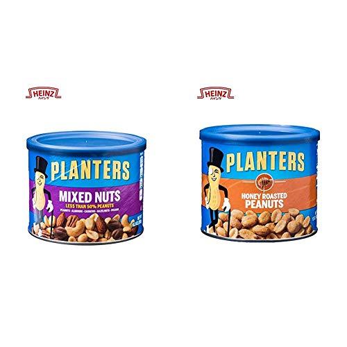 【セット買い】プランターズ (Planters) ミックスナッツ ナッツ缶 282g & (Planters) ハニーローストピーナッツ 340g