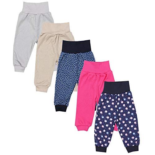 TupTam Unisex Baby Pumphose 5er Pack, Farbe: Mädchen 8, Größe: 92
