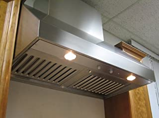 Imperial Wall Canopy Range Hood with Baffle Filters, 48 inch W, 635 CFM