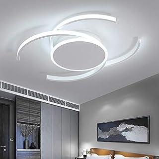 RUNNUP LED lámpara de techo moderno semicírculo acrílico blanco semi empotrado lámpara de araña luces de techo para sala de estar dormitorio habitación de niños [color de luz blanca] -16 inch